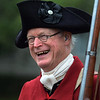 MIKE SPRINGER/Staff photo<br /> Donald Hayes marches with the Danvers Alarm List Company, a group of colonial re-enactors, during the Memorial Day parade Monday in Danvers.<br /> 5/28/2018