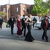 Desi Smith Photo.  Couples head to their buses after the pre-prom promendade at Rockport' High School Friday night.   May 18,2018