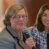 MIKE SPRINGER/Staff photo<br /> State Housing and Economic Development Deputy Secretary and former Gloucester Mayor Carolyn Kirk speaks Wednesday during a meeting of the state Seaport Economic Council at Gloucester City Hall. At right is Massachusetts Lt. Gov. Karyn Polito.<br /> 5/28/2018