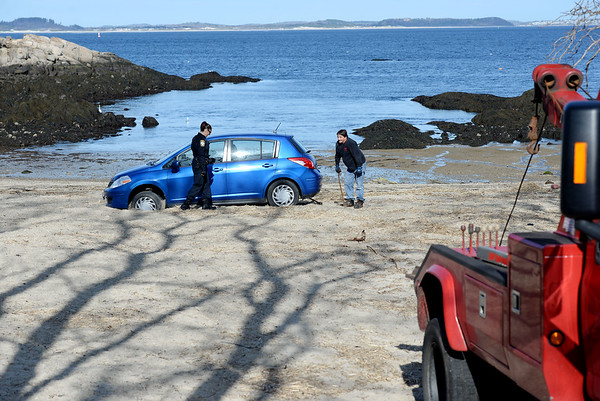 Car on Plum Cove Beach