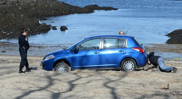 Car on Plum Cove Beach