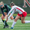 AMANDA SABGA/Staff photo <br /> <br /> Manchester Essex's Anna Coyne (13) scuffles with Watertown's Catherine Connors (7) during the division two north field hockey championship game against Watertown at North Andover High School. Manchester Essex was defeated by Watertown 1-0.<br /> <br /> 11/10/18