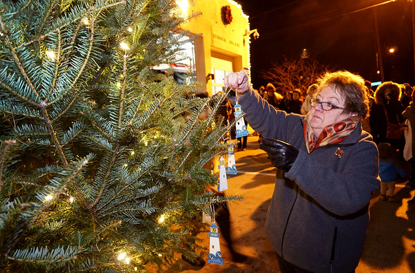 Lighting of the Memory Tree, in Honor of Lost Loved Ones,