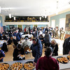 "Community members enjoy lunch at the American Legion building after the Gloucester Veterens Day WWI Ceremony to honor the Gloucester soldiers who died during the ""Great War"" and remember the Armistice that was signed by the Allies and Germany 100 years ago to end the war on Sunday November 11, 2018.  Photo by Joseph PREZIOSO"