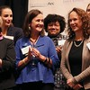 "HADLEY GREEN/Staff photo<br /> Meegan O'Neil smiles after being awarded $30,000 for the YMCA of the North Shore's ""Y's Water Wise"" project at the Northeast Arc Tank competition at the JFK Library & Museum in Boston. <br /> <br /> 11/15/17 [[MER1711152055530947]]"