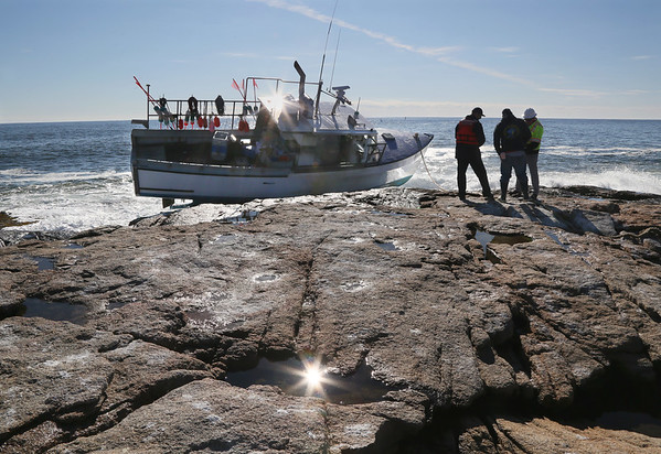 Fishing Boat Runs Aground