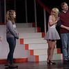 TIM JEAN/Staff photo<br /> <br /> From left to right, Emma Fuller, Hattie Mae Rich, and Ryan Taber perform on stage during a dress rehearsal for Disney's High School Musical in the Lane Performing Arts Center at Rockport High School. 10/24/18