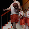 TIM JEAN/Staff photo<br /> <br /> Ryan Taber sings and dance to the song Get My Head in the Game, during a dress rehearsal for Disney's High School Musical in the Lane Performing Arts Center at Rockport High School. 10/24/18