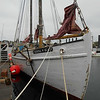 SEAN HORGAN/Staff photo/The Silvina W. Beal knockabout schooner, tied up at Maritime Gloucester on Monday, is now the oldest former wooden fishing vessel in Gloucester Harbor. It was built in 1911.