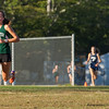 AMANDA SABGA/Staff photo. <br /> <br /> Manchester Essex's Eve Feuerbach leads the runners to the finish during a cross country meet between Manchester Essex and Hamilton-Wenham at Patton Park in Hamilton. <br /> <br /> 10/18/17