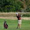 RYAN HUTTON/ Staff photo<br /> Rockport's Walker Knowles, 15, hits the ball down the eighth hole fairway of the Essex Country Club during the Old Cape Ann Classic on Thursday.