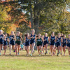 AMANDA SABGA/Staff photo. <br /> <br /> The girls take off during a cross country meet between Manchester Essex and Hamilton-Wenham at Patton Park in Hamilton. <br /> <br /> 10/18/17