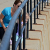 RYAN HUTTON/ Staff photo<br /> Saidalee Lorentzen, 2, looks out over the water with her grandmother Lisa Ciaramitaro from Stacey Boulevard in Gloucester on a sunny Thursday.