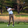 RYAN HUTTON/ Staff photo<br /> Manchester Essex's Geoff Schlegel, 17, tees off at the ninth hole the Essex Country Club during the Old Cape Ann Classic on Thursday.