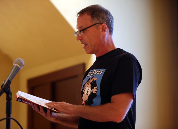 """""""OFF THE MARK' CARTOONIST Mark Parisi talks about kids books at library"""