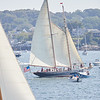 The When & If in the parade of Schooner ships in Gloucester, Sunday, September 2, 2018. Jared Charney / Photo