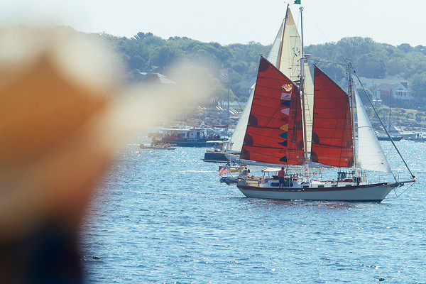 The Adventure in the parade of Schooner ships in Gloucester, Sunday, September 2, 2018. Jared Charney / Photo