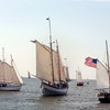 AMY SWEENEY/Staff photo.<br /> Around 25 boats from as far away as England participated in the Gloucester Schooner Festival.<br /> Sept. 4, 2017