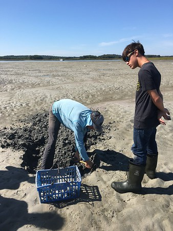 The Essex Shipbuilding Museum took a group of students, from Topsfield Vocational Academy,  that built the clamming skiff on a  trip last Friday.