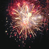 Gloucester: Fireworks burst over Gloucester Harbor Saturday night.  Desi Smith/Gloucester Daily Times. September1, 2012