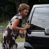 Allegra Boverman/Gloucester Daily Times Essex Elementary School Principal Jennifer Roberts greets parents picking up their children after end of the first day of school on Thursday afternoon.