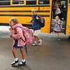 Gloucester:  Children step off the bus and head on in, on their first day back at West Parish School Wednesday morning.  Desi Smith/Gloucester Daily Times. September 5, 2012