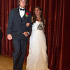 Desi Smith/Gloucester Daily Times.  Cory Burnham and his date walk across the auditorium stage on Saturday evening at Manchester Essex Regional High School in front of family and friends before prom night.  June 1,2013
