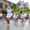 Gloucester:  Emily Twombly of Rockport Academy leads her dance group at a surpise flash mob dance at Main Streets Block Party Saturday evening. They started off as a group, when others from the crowd joined in. Desi Smith/Gloucester Daily Times. August 18,2012