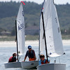 ALLEGRA BOVERMAN/Gloucester Daily Times Participants compete in the Championship Optimus race off Wingaersheek Beach on Monday. The Annisquam Yacht Club is hosting the three-day-long Junior Olympic Sailing Festival.