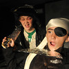 Jim Vaiknoras/ Gloucester Daily Times: Teale Baily as a pirat and Meave Pleuler as young Samantha Brown in The Page: The untold story of Samantha Elizabeth Collins, at Summer Playcamp at the Annie in Gloucester.