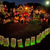 Gloucester: Bags with candles and messages line the walkwaks as people came to remember those friends and family members that lost their lives at the 2nd Annual Overdose Vigial last night on the boulevard. Desi Smith/Gloucester Daily Times. August 31,2012