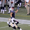 Foxbrough:  Patriots Julian Edelman looks to pull in a pass against the New Orleans Saint Thursday night at Gillette Stadium.    Desi Smith/Gloucester Daily Times. August 9,2012