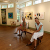 ALLEGRA BOVERMAN/Gloucester Daily Times From left: Anne Marie Crotty and Cynthia Switzer Roth in the newly renovated and rebuilt Flatrocks Gallery in Lanesville. The gallery officially opens this weekend.