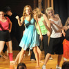 "Jim Vaiknoras/Gloucester Daily Times. Performers belt out a song in rehearsal for ""Fame Junior""  with O'Maley Middle School Drama Camp Thursday. The performance is at noon on Friday, at the Middle School, admission is free."