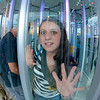 "Desi Smith/Gloucester Daily Times. Gloucester: Lacey Thompson 15, tries to find her way out of the Magic Maze on opening night at the St. Peter's Fiesta. <br />  <br /> ""There's just something about this girl's eyes as she tries to find her way out of the glass house at the carnival during Fiesta."""