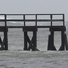 "MIKE SPRINGER/Gloucester Daily Times<br /> ""When Hurricane Sandy hit the area in late October, I was surprised to see so many surfers in the water. This man jumped off the end of Magnolia pier so he could swim farther out into the waves. Talk about fearless."""