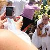 "Maria Uminski/Gloucester Daily Times. Siblings Jack and Charoltte Nicastro, 4 and 3 respectively, pose in front of the Statue of St. Peter before the start of the Fiesta parade in July. <br /> <br /> ""This was my first year covering Fiesta and I could not have had more fun. One of the things I enjoyed most about it is how the traditions behind the festival are passed down from generation to generation."""