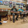 Left-right; David Rosen, Lynn Noel, Diana Taraz and Nancy Koch of The Gloucester Hornpipe & Clog Society play a concert at the Lunenburg Public Library.  SENTINEL&ENTERPRISE/ Jim Marabello