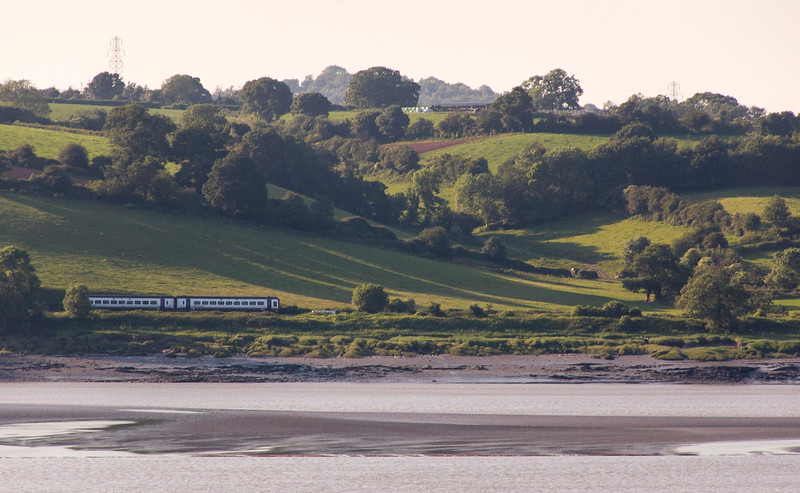 Train beside the River Severn