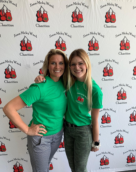 Loyal volunteers Amanda Sullivan of Medford and Mikayla Bell of Lowell