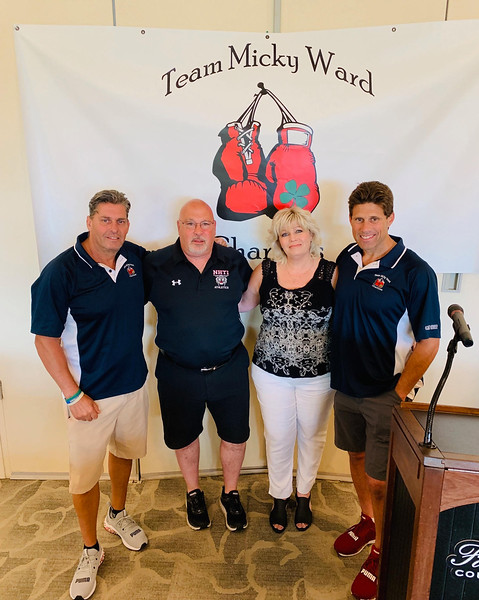 From left, Team Micky President Rick Dupuis of Hudson, N.H., Joshua Johnson's parents, Darren and Gina Johnson of Pembroke, N.H., Jerry Serra Jr., of Chelmsford