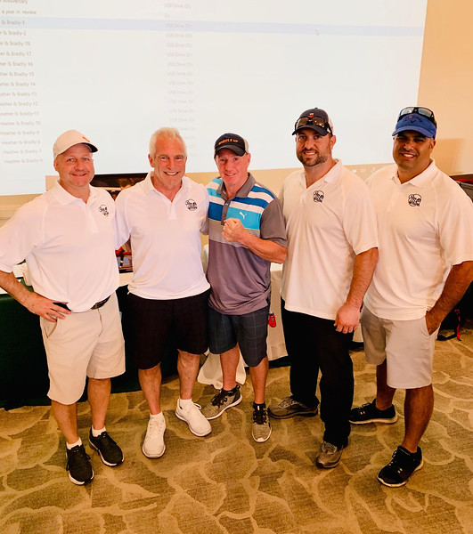 From left, Mark Thibault of Londonderry, N.H., Don Cusano of Westford, Micky Ward of Lowell, and Chris Attard and Jeff Senerian of Westford