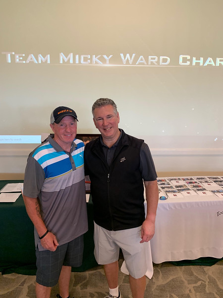 Micky Ward and Mark Cochran of Dunstable