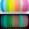 สีตัวอย่างริสแบนด์ซิลิโคนเรืองแสง
