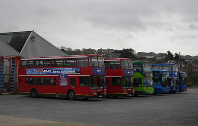 Some members of the Coach Unit/Events Fleet at Ryde Depot - 15.1.11