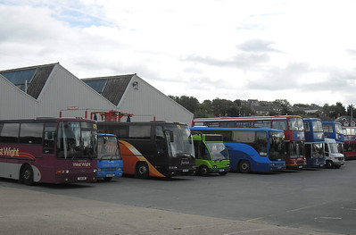 Some members of the Coach Unit/Events Fleet at Ryde Depot - 8.10.11
