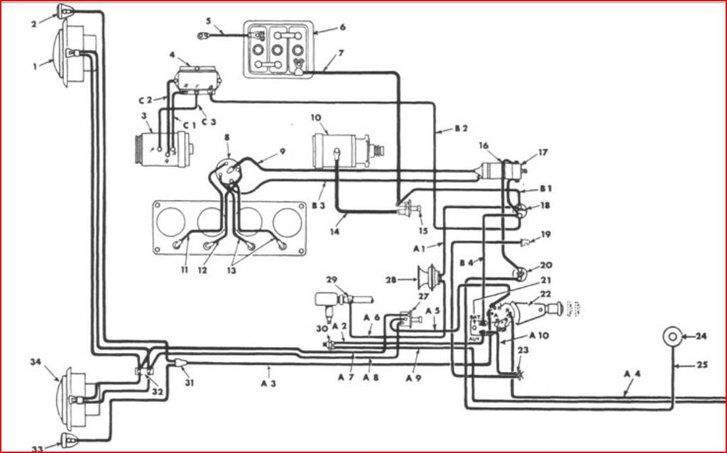 willys cj3a wiring diagram easy wiring diagrams u2022 rh art isere com willys jeep cj2a wiring diagram 1953 willys jeep wiring diagram