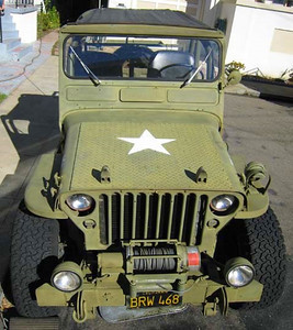 45 Willys Diamond Plate Hood