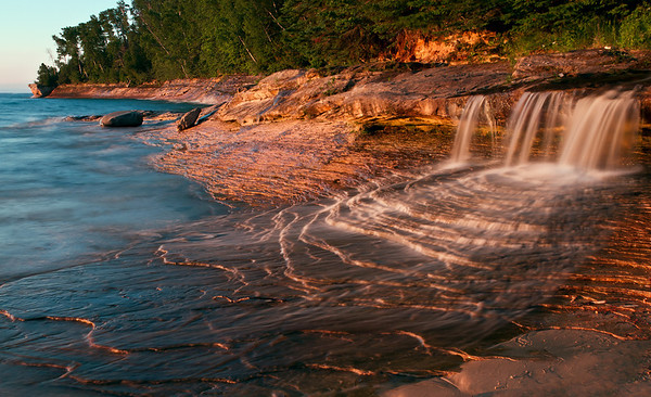 Miner's Beach Waterfall