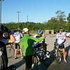 Karen, talking it up before the ride.